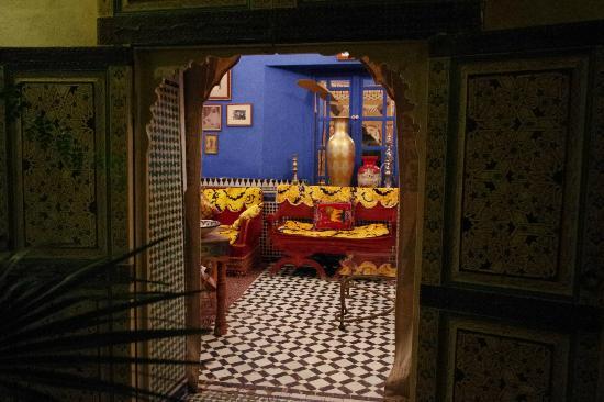 Fez Cafe at Le Jardin Des Biehn: Part of the Riad
