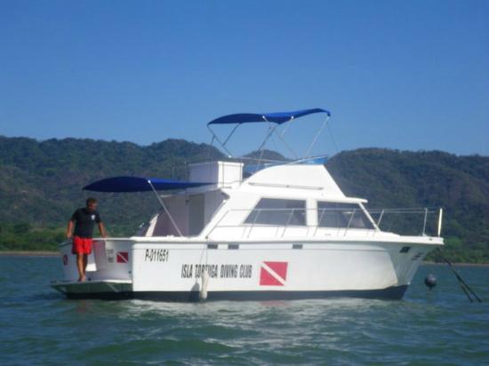 Montezuma Crew: The dive boat