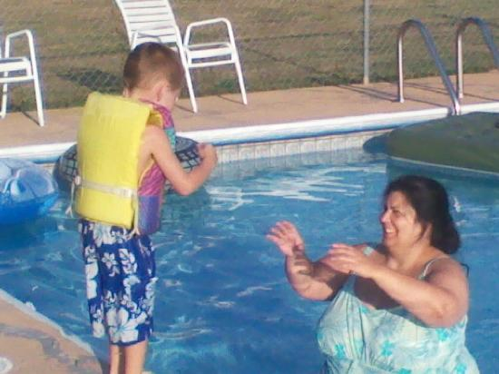 Twin Mountain Motor Court & RV Park : My wife and Grandson