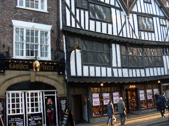 The Outside Picture Of Golden Fleece York Tripadvisor