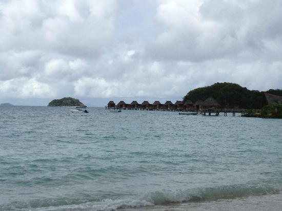 Likuliku Lagoon Resort: View from room - overwater burres