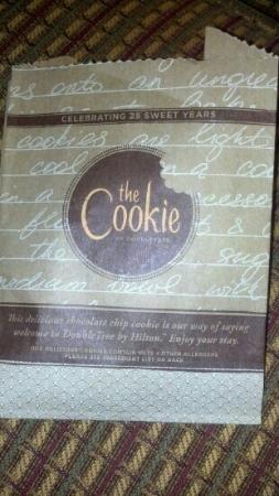 DoubleTree Suites by Hilton Hotel Nashville Airport: Check in cookie! YUMMY