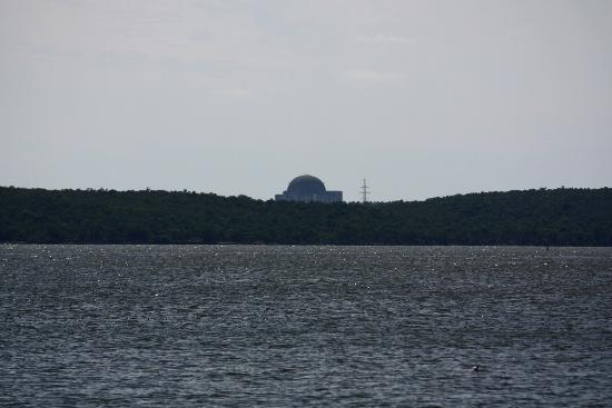 view at unfinnished nuclear plant from Punta Gorda