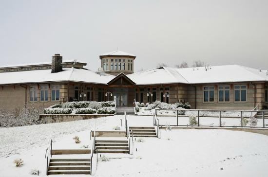 Adelsheim Vineyard: The winery in snow!