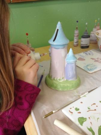 painting at Clay Art