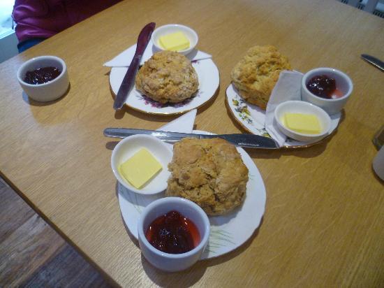 Spill The Beans Cafe: Freshly baked scones!