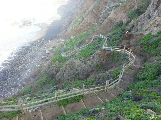 Playa de Benijo: der weg zum Meer