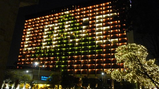 Hilton Palacio del Rio special Christmas lighting