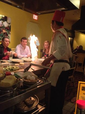 Benihana: our neighbour table with more animated chef