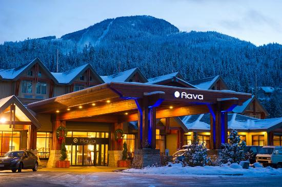 ‪‪Aava Whistler Hotel‬: Winter Exterior by Mike Crane Photography‬