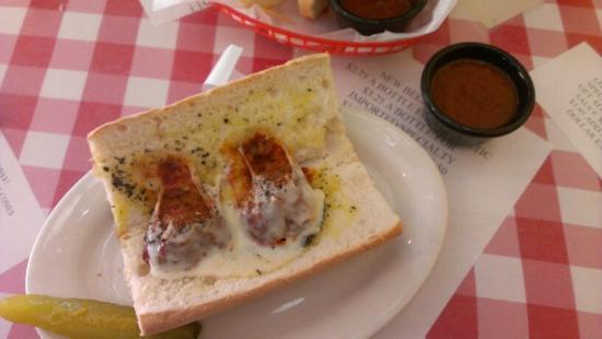 Monjuni's Italian Cafe: Meatball PoBoy! HAHA