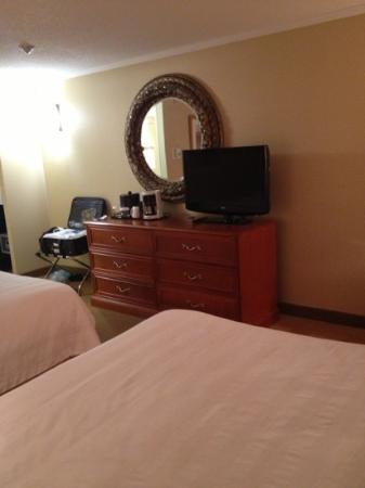 Crowne Plaza Toronto Airport: bulky dresser. all the lights are on and it felt dark