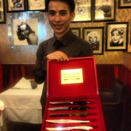 New York Steakhouse: What a treat. You get to chose your steak knive!