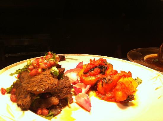 Hussain's: Anari - lamb steaks with pomegranate