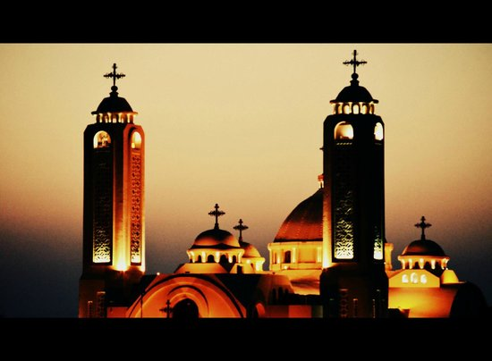 Coptic Church: By sunset