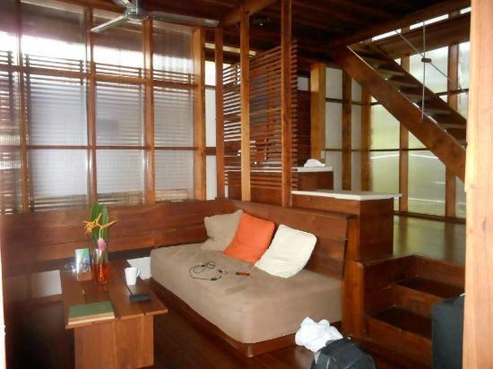 Jicaro Island Ecolodge Granada: living area in the casita