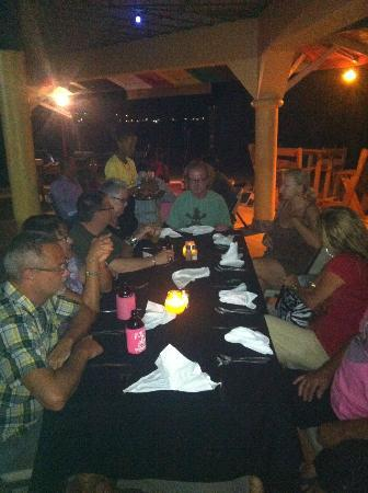 Bourbon Beach Jamaica: Dinner with freinds.