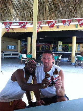 Bourbon Beach Jamaica: Ran into an old friend at the bar.