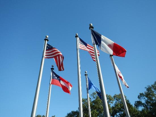 Arkansas Post National Memorial: Flags that have flown over Arkansas Post