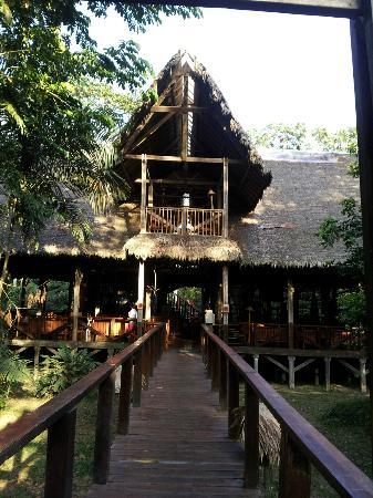 Refugio Amazonas: Walkway from the room to the dining hall.