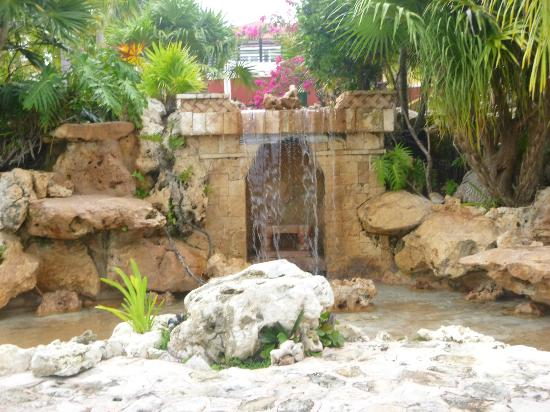 Ocean Maya Royale: In Front of Main Outside Lobby - Nice Waterfall