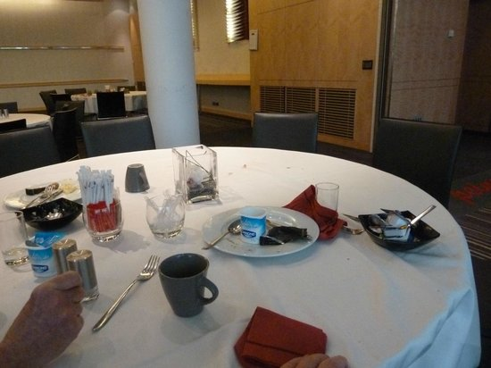 Pullman Paris Centre - Bercy: Breakfast table when we got there