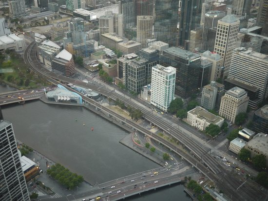 Clarion Suites Gateway: The hotel (white building centre) from Eureka Skydeck