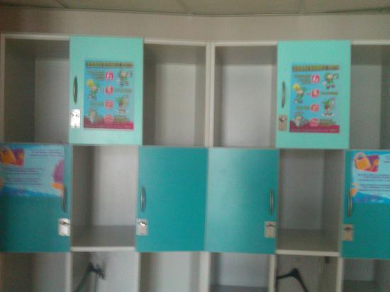 ฌักส์เบรล์ ยูธโฮสเทล: Lockers in room