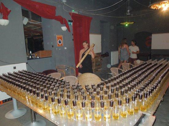 Retox Party Hostel: Infamous Jager train!!