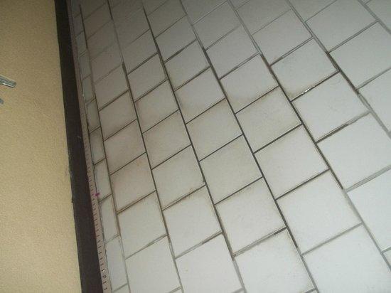 Comfort Suites : Dry and Wet Black Slime on Recreation Area Floor