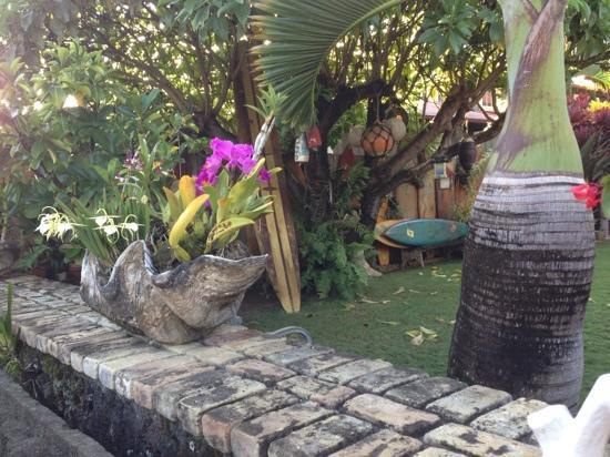 Hanalei Surfboard House: Love the clam shell flower pot