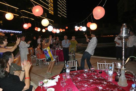 Sandos Cancun Luxury Resort: Welcome rehearsal/ Arabian Nights