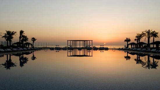The St. Regis Doha: Pool at Sunset