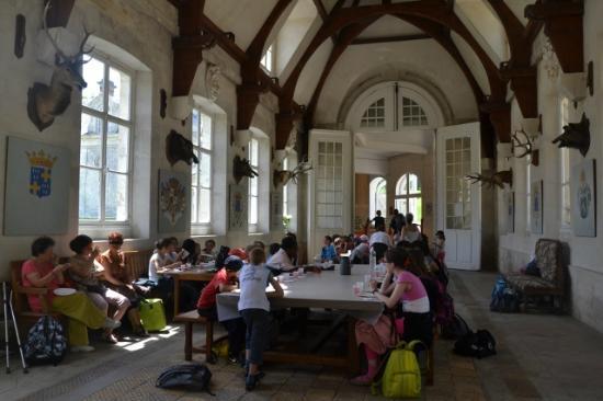 Château de Bizy : Goûter dans l'orangerie