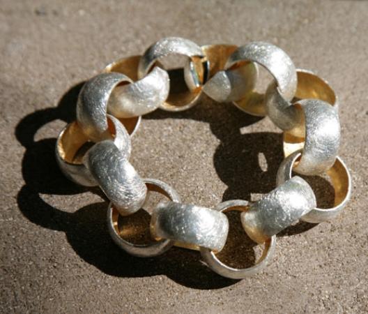Anpa Jewellers: silver & gold vermeil bracelet