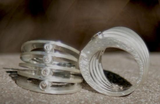Anpa Jewellers: silver & diamond multi band
