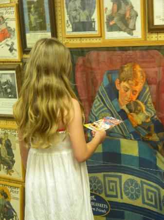 Norman Rockwell Museum : Admiring the gallery