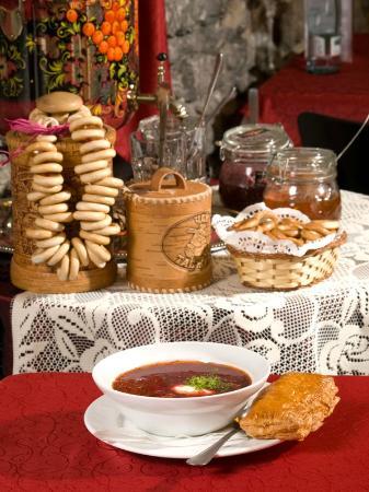 Russian Dining Room U Natashi: Freshly made Borsch