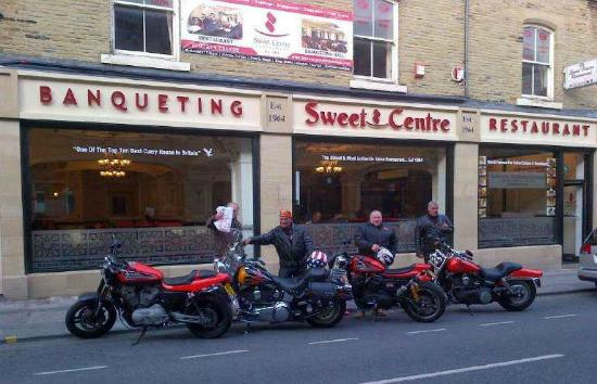 Sweet Centre Restaurant : Harley Davidson Crewe - Enjoying A Curry before hitting the Road.