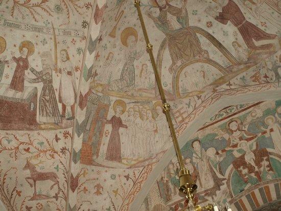 Praestekilde Hotel Restaurant: kalkmalerier fra Kjeldby kirke