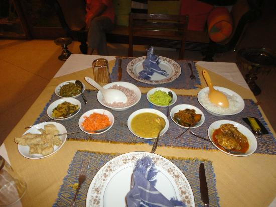 Villa 49: Amazing home cooked evening meal