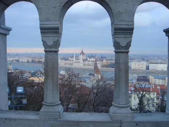 Hilton Budapest: view from back of hotel