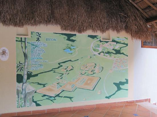 The Lodge at Uxmal: Un mapa de la zona