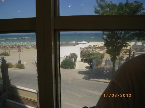 Hotel Alexander Spiaggia: vista dal ristorante