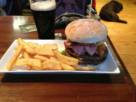 Eagle Inn: The delicious and monstrous Eagle Burger.