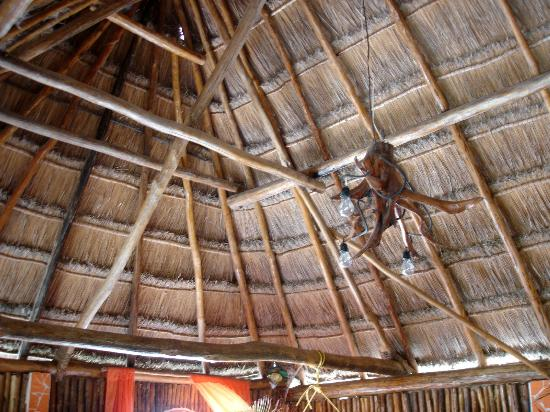 Amar Inn B&B: Palapao roof of jungle room