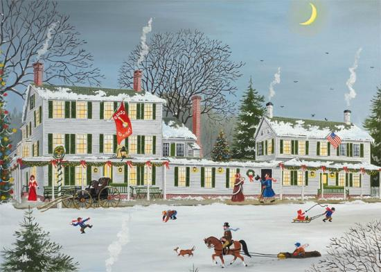 Griswold Inn : An Old-Fashioned Winter Scene