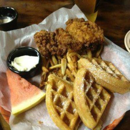 That Boy Good: chicken and waffles