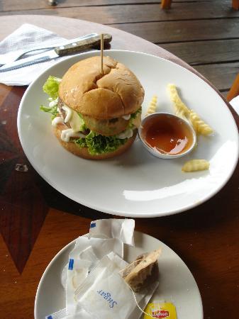 Oriental cafe: the chicken burger
