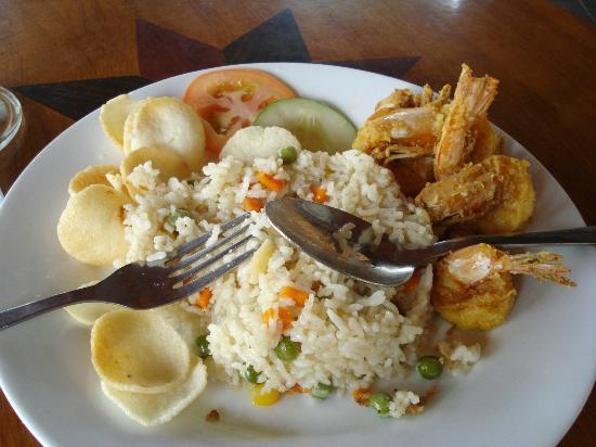 Oriental cafe: Prawns- fried Rice